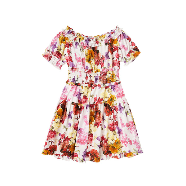 BE MERRY FLORAL DRESS