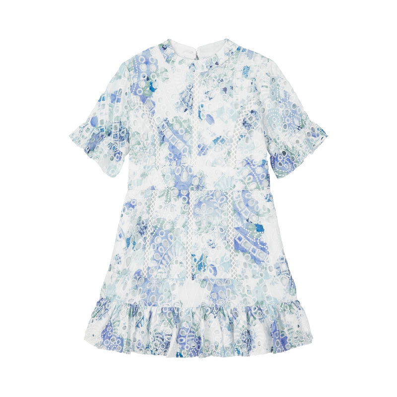 Nanette Embroidered Dress (Floral)