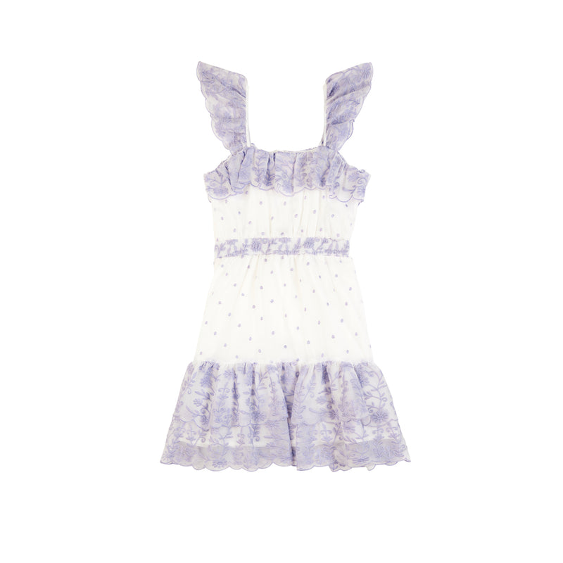 ROSIE EMBROIDERED DRESS (LAVENDER)