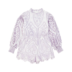 Nanette Embroidered Romper Marlo Kids