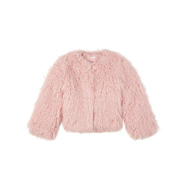 Fur Jacket (Dusty Pink)