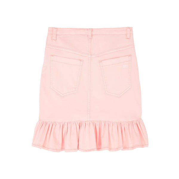 DENIM SKIRT (DUSTY PINK)