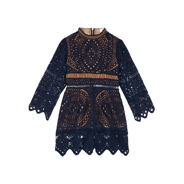 MANIA LACE DRESS (NAVY)