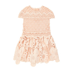 Valentina Lace Dress Baby (Peach)