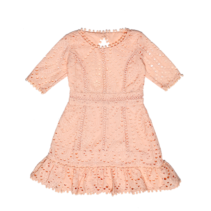 Cotton Embroidered Dres (Blush)