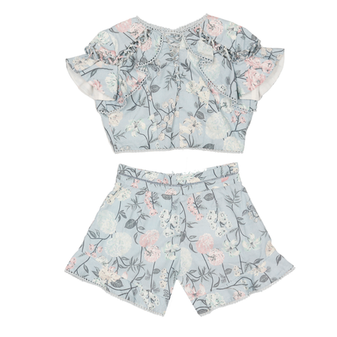 Blossom Cotton Top & Shorts (Set)