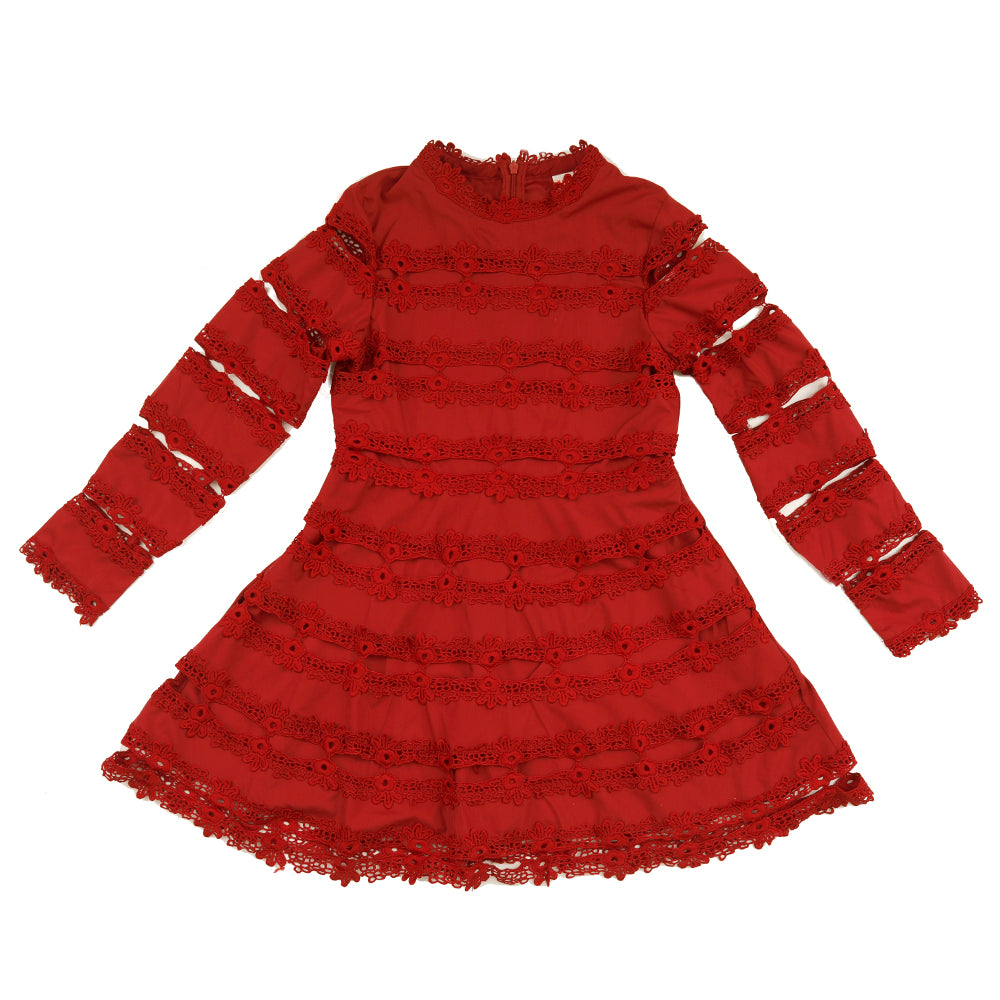 The Lovely Dress Burgundy Marlo Kids