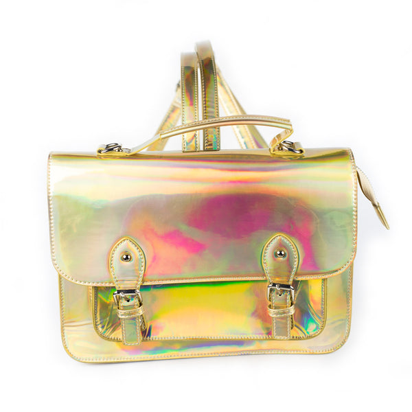 Holographic Satchel Bag