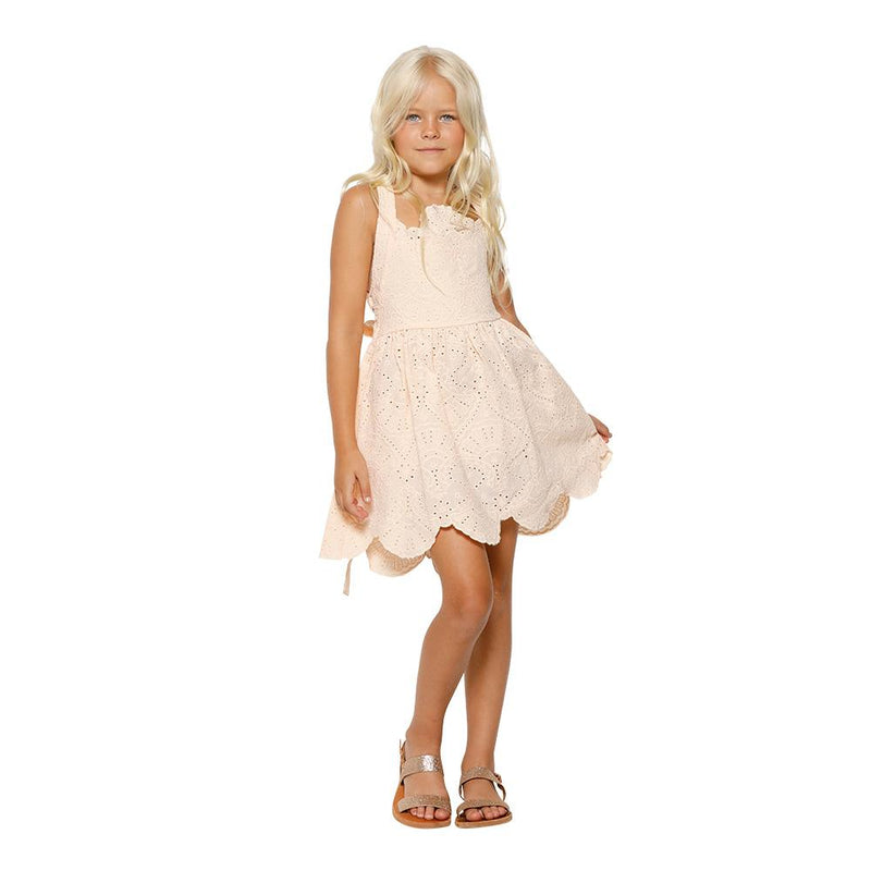 Broidery Anglais Summer Dress (Blush)