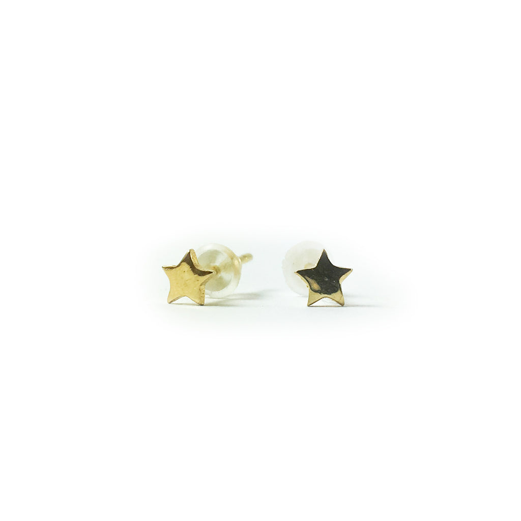 Tiny Gold Star Earrings