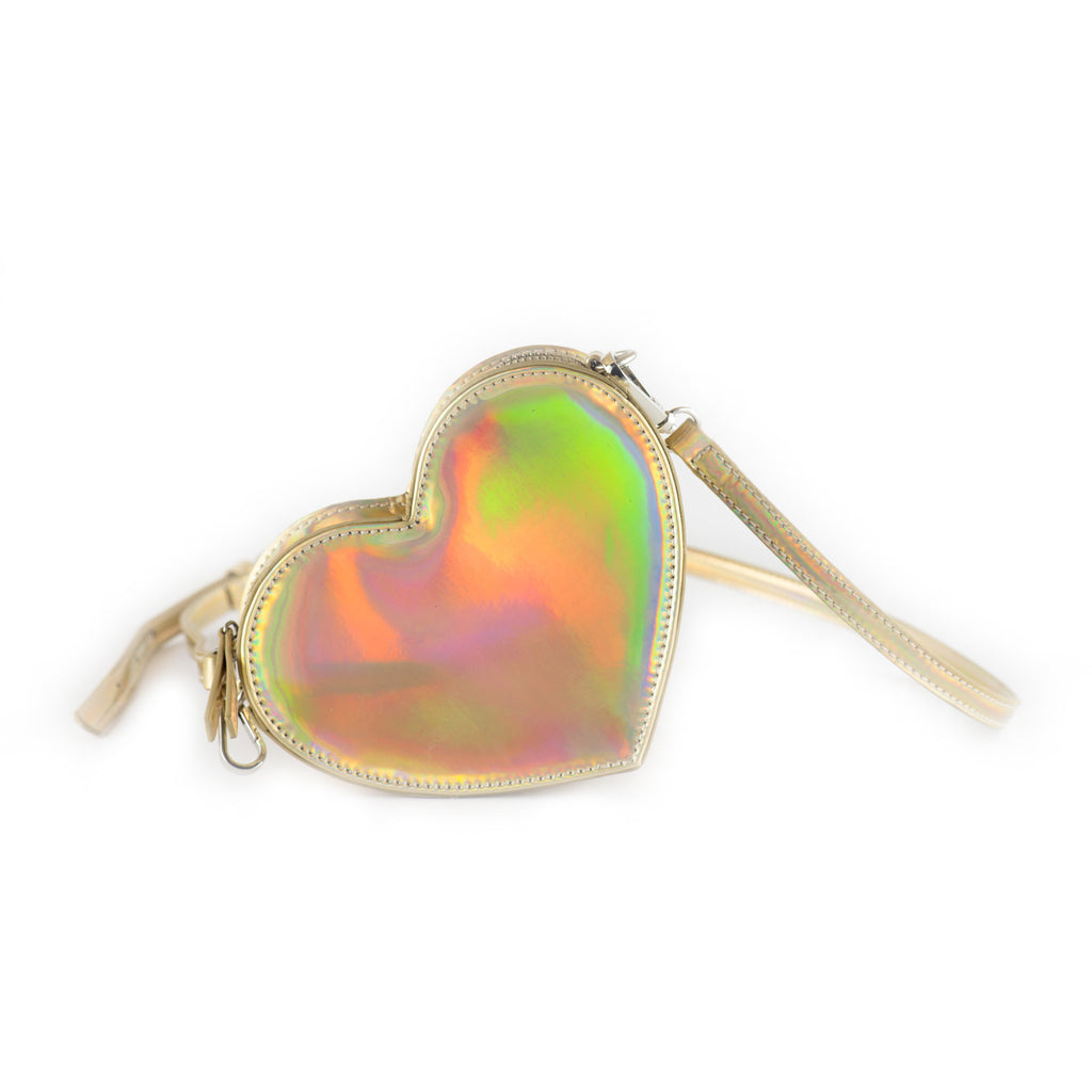 Holographic Heart Bag