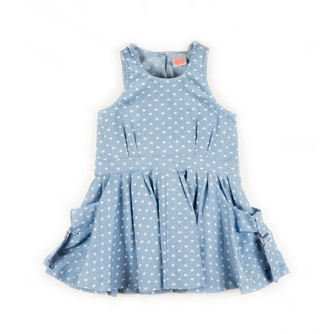 Heart Chambray Dress