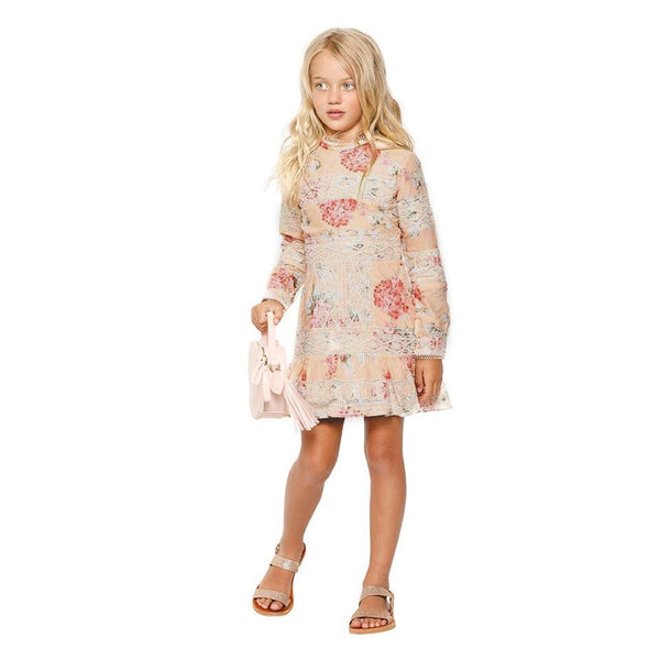 Hydrangea Floral Cotton Dress