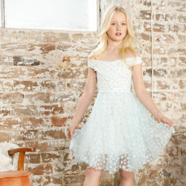 Peony Dress (Sky Blue)