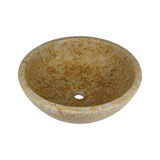 Natural Stone Vessel Bathroom Sink - Dessert Marble