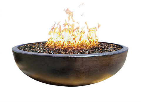 "Concrete Fire Pit 48"" - Dark Bronze Sealed"