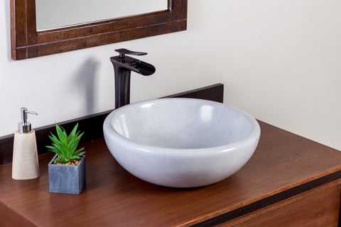 Natural Stone Vessel Bathroom Sink - Goitia Marble