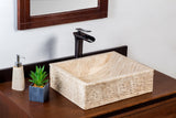 Natural Stone Vessel Bathroom Sink - Durango Travertine