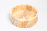 Natural Stone Vessel Bathroom Sink - Blizz Honey Onyx