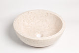 Natural Stone Vessel Bathroom Sink - Ojinaga Marble