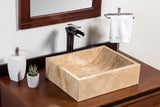 Natural Stone Vessel Bathroom Sink - Greece Travertine