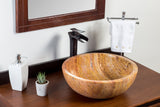 Natural Stone Vessel Bathroom Sink - Bonsai Peach Travertine