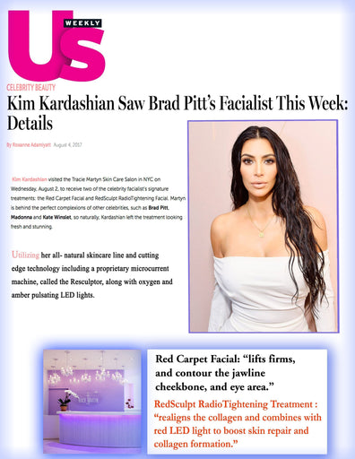 US Weekly: Kim Kardashian at Tracie Martyn's Spa