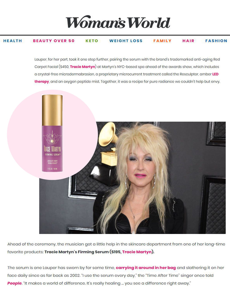Woman's World: Cyndi Lauper Got Her Skin Grammy-Ready With This Celeb-Loved Serum