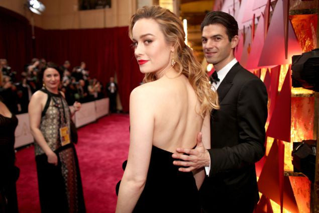Brie Larson with her fiancé, Alex Greenwald of Phantom Planet. Christopher Polk/Getty Images