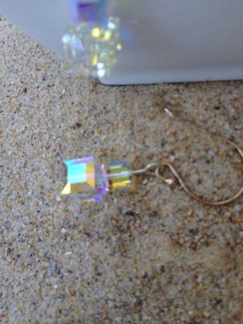 Clear Christmas Present Earrings