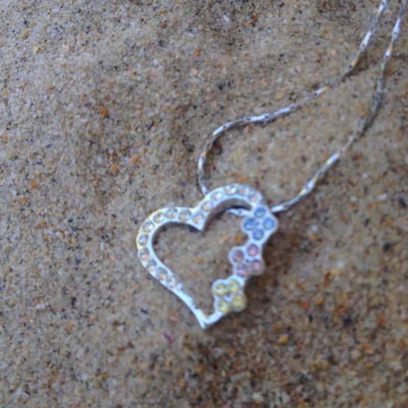 Swarovski Crystal Heart Necklace.
