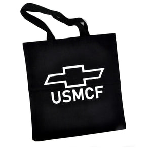 Tote Bag: USMCF (White on Black)