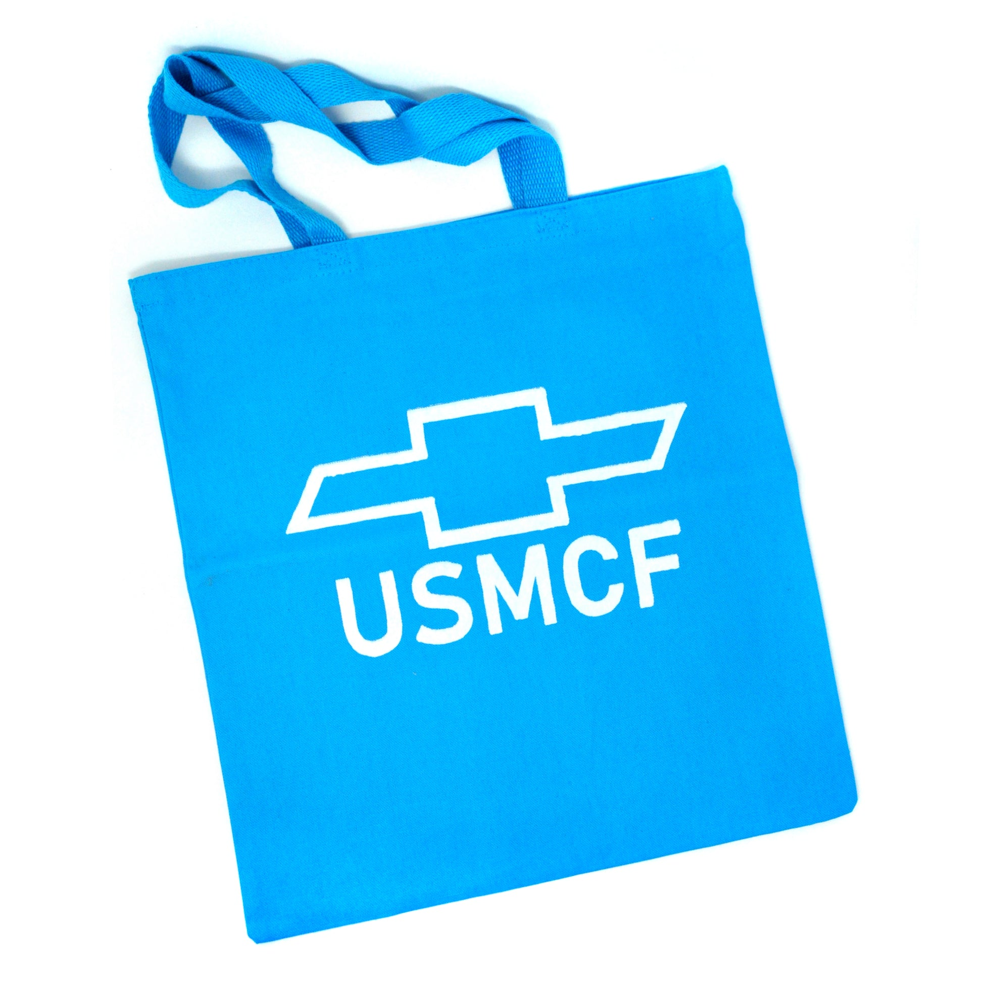 Tote Bag: USMCF (White on Blue)