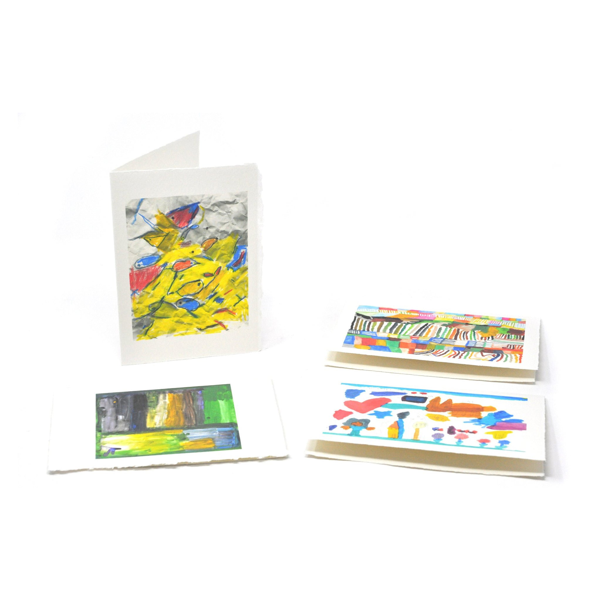 Greeting Cards: Semi-Abstract Four-Pack