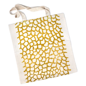 Tote Bag: Organic Pattern (Gold on Natural)