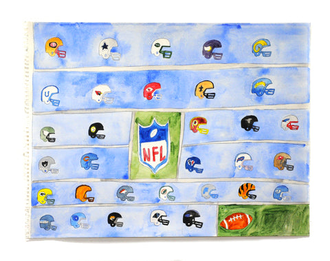 Helmets Of The NFL Teams (D8885)