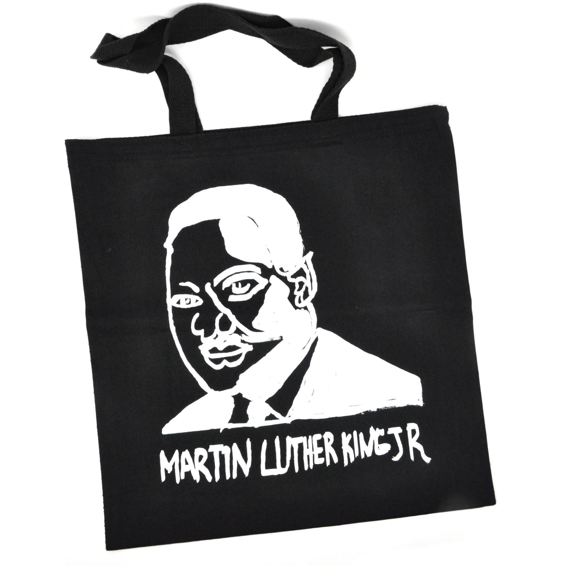 Tote bag: Martin Luther King Jr. (White on Black)