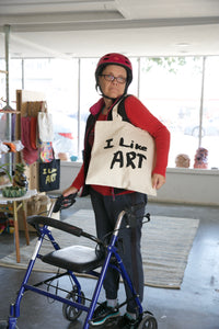 "Tote Bag : ""I Like Art"" (Black on Natural)"