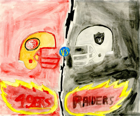 NFL Rivalries 49ers And Raiders (D8560)