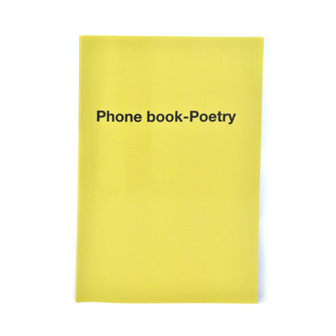 Chapbook : Phone book-Poetry