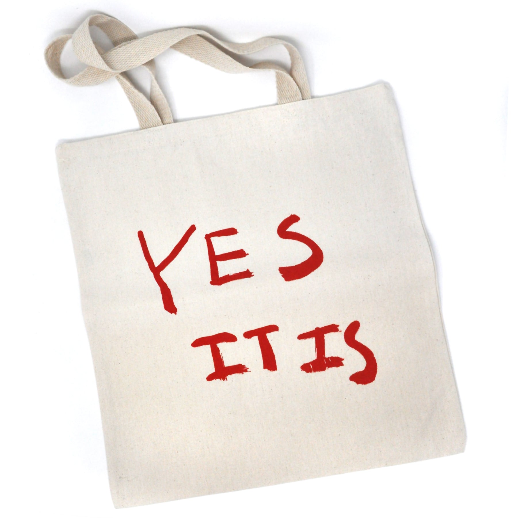 Tote Bag: Yes It Is (Red on Natural)
