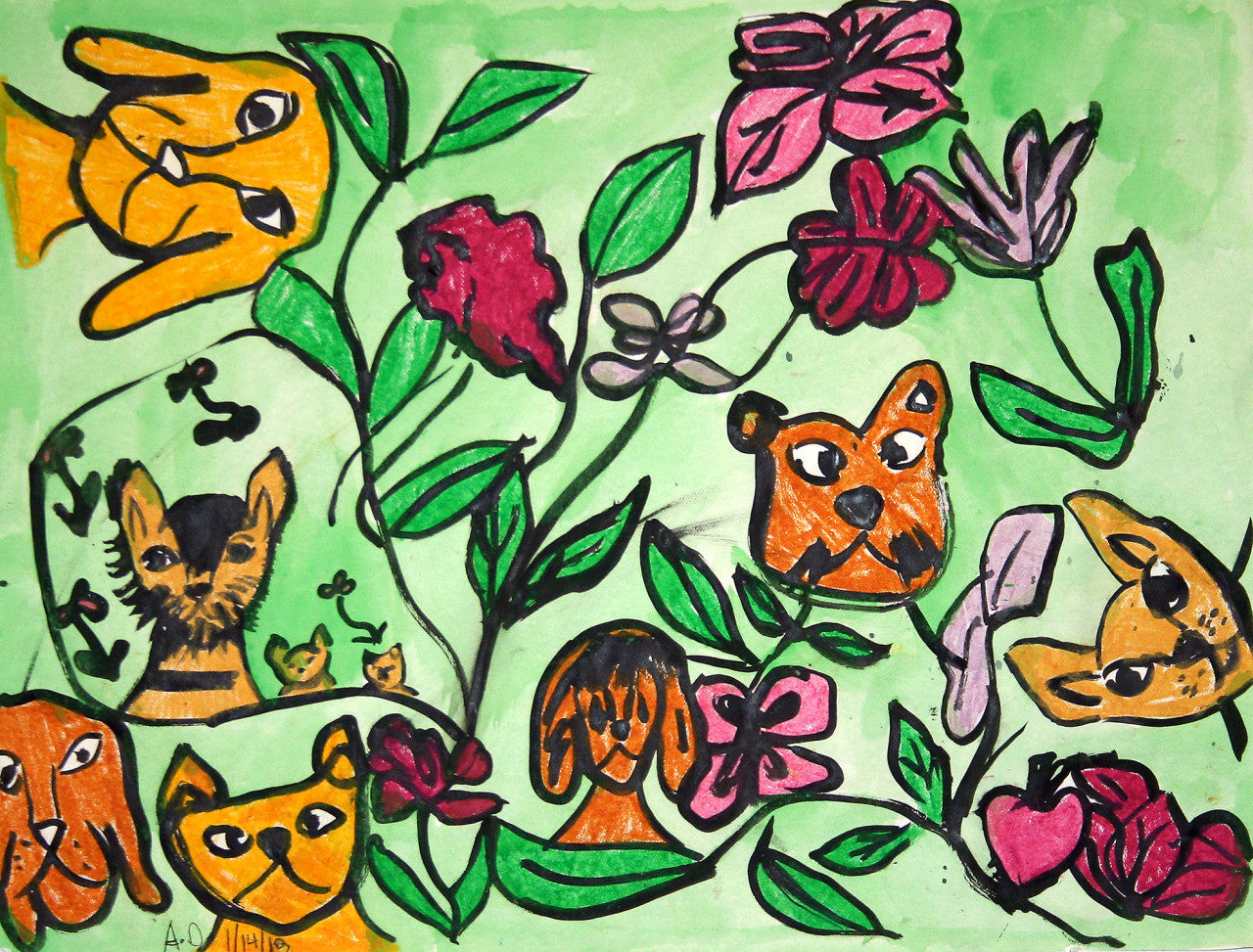 Dogs & Flowers (D0741)