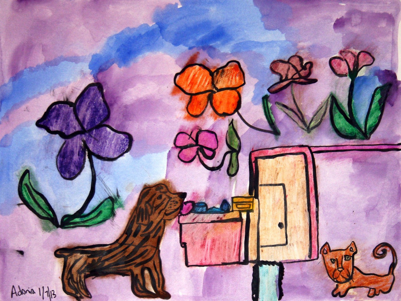 Dogs & Flowers (D0742)