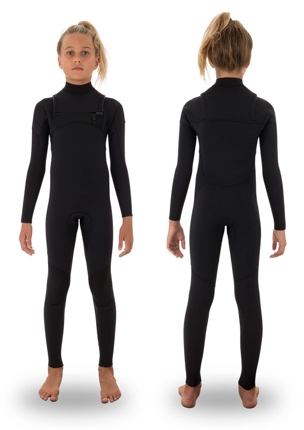 needessentials kids youth 3/ 2 thermal chest zip wetsuit non branded black winter summer