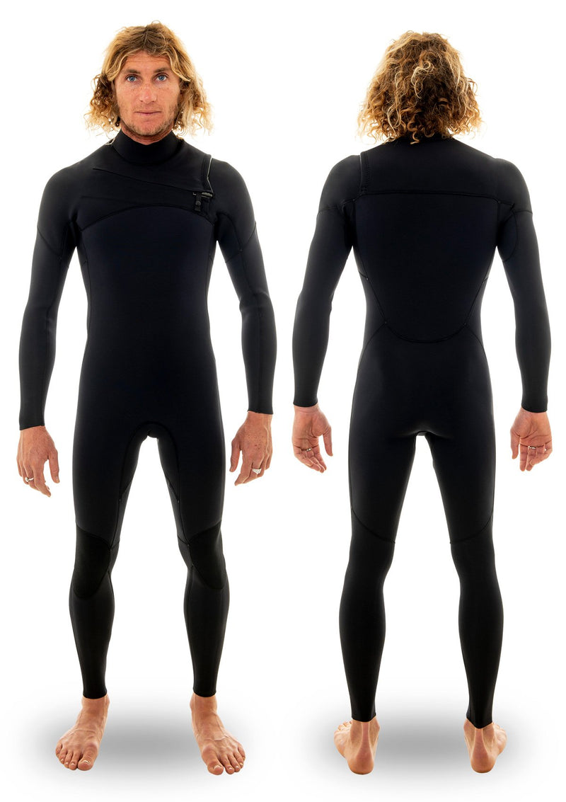 needessentials 3/2 thermal chest zip wetsuit surfing wetsuit winter black non branded