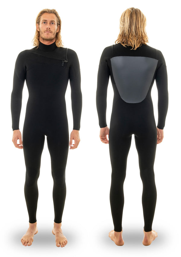 needessentials 4/3 chest zip thermal wetsuit torren martyn surfing winter black non branded