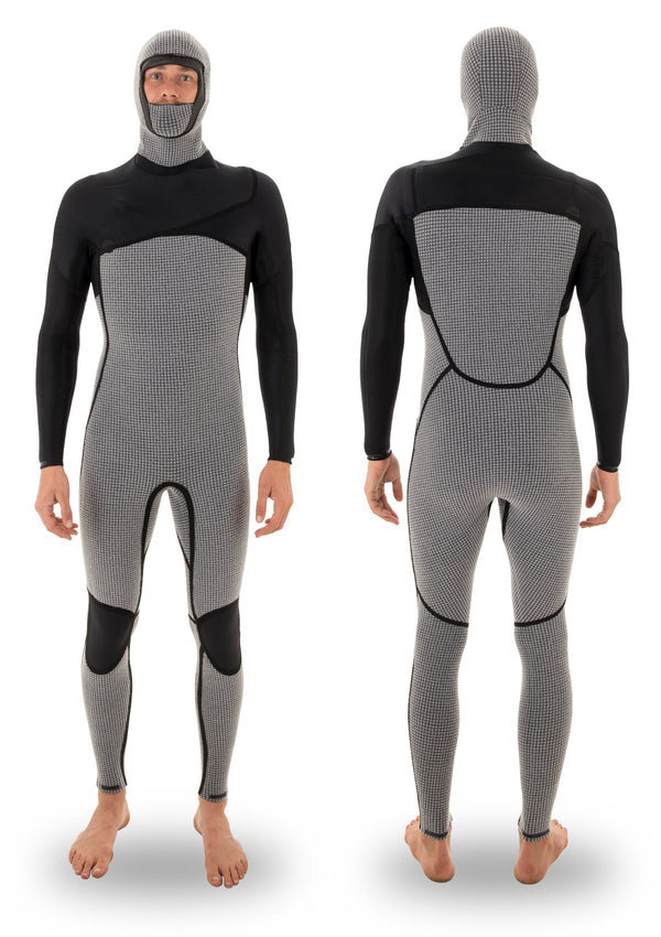 needessentials 4/3 hooded liquid taped thermal wetsuit torren martyn surfing winter non branded