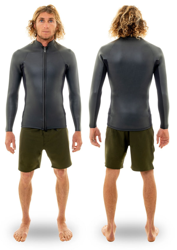 needessentials 2mm Smoothy Front Zip Jacket summer wetsuit non branded
