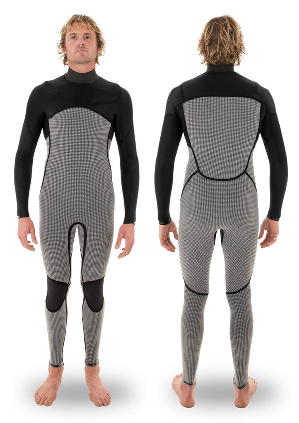 needessentials 3/2 liquid taped wetsuit laurie towner surfing winter big waves