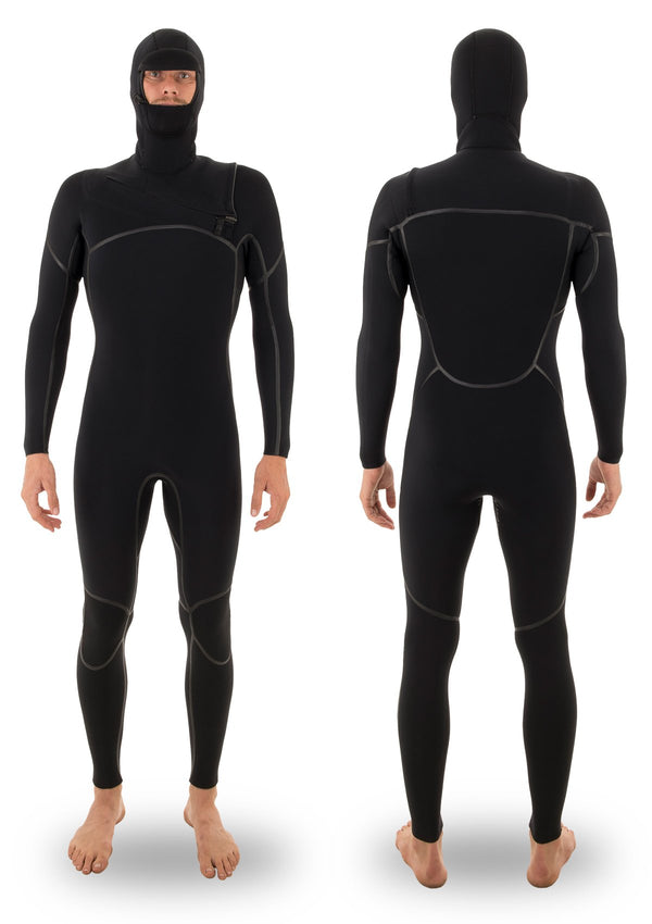 needessentials 4/3 hooded liquid taped thermal wetsuit torren martyn surfing winter black non branded